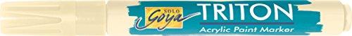 Kreul 17834 - Solo Goya Acrylic Paint Marker, mit formstabiler Keilspitze ca. 1 - 4 mm, elfenbein (Marker Maler, Paint)