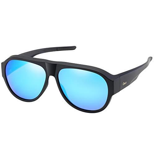 6602e4c000 DUCO Pilot Style Men s and Women s Polarised Wrap Around Fit-Over  Sunglasses over Prescription Glasses