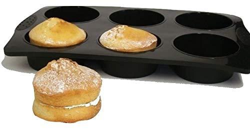 JUMBOFORM für 6 extra große Muffins, strapazierfähiges Silikon mit Antihaftwirkung, 10 Jahre Garantie