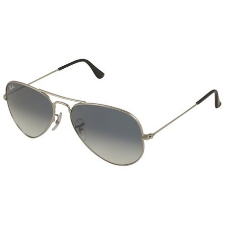 RAY-BAN RB 3025 AVIATOR SUNGLASSES (55 mm, 003/3F SILVER CRYSTAL WHITE/GRADIENT BLUE)