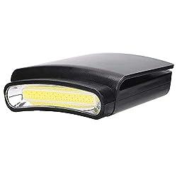 LED Stirnlampe Cap Light Cap Lampe Drehbare Cap Visor Licht Leichte Hut Leuchte Kopflampe Perfekt für die Jagd, Camping, Fischen[Energieklasse A+]