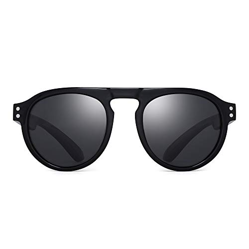 JM Kinder Polarisiert Sonnenbrillen Unzerbrechlich Gummi Rahmen Kind Mädchen Jungs Alter 3-6 (Schwarzer Rahmen/Polarisierte Graue Linse)