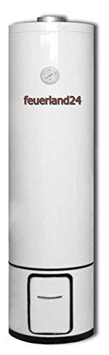Badeofen Warmwasserboiler Holzboiler mit 80 Liter Druckfest 7 BAR Holz Elektrokombi