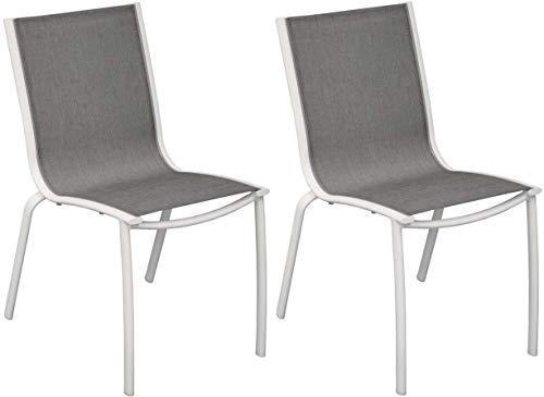 Proloisirs Chaise aluminium textilène Linea (Lot de 2)
