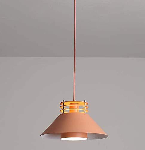 Led Kronleuchter/Pendelleuchte, Kreative Mode Schmiedeeisen Pendelleuchte, Moderne Minimalistische Wohnzimmer Schlafzimmer Esszimmer Macarons Dekorative Hängelampe E27, BOSS LV, Orange