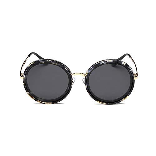 Polarisierte Sonnenbrille Weiblichen Runden Rahmen Bunten Treibenden Spiegel, Anti-uv Sonnencreme, Geeignet Für Eine Vielzahl Von Gesichtstypen. (Color : Floral)