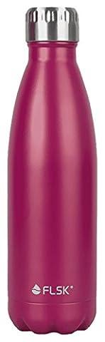 FLSK – Trinkflasche 750ml Thermosflasche   Pink aus Edelstahl   Isolierflasche hält 18h heiß, 24h kalt, Thermokanne