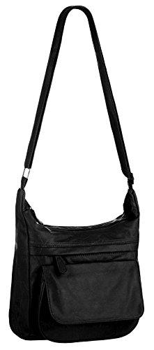 Eyecatch - Dita Damen Schulter Tasche Frauen Faux Leder Handtasche Schwarz