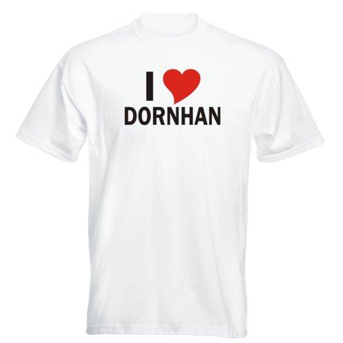T-Shirt mit Städtenamen - i Love Dornhan - Herren - unisex Weiß