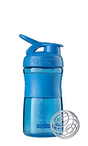 BlenderBottle Sportmixer Tritan Shaker | Protein Shaker | Wasserflasche | Diät shaker Cyan (20oz / 590ml)