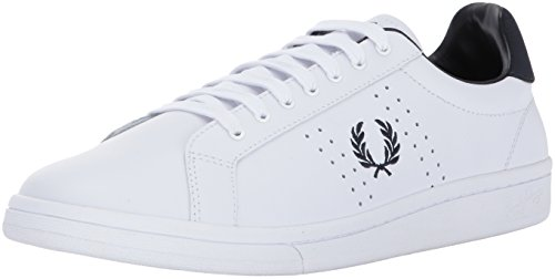 Fred Perry Herren B7211 Leather Oxfords, Weiß (White 100), 44 EU -