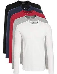 Lower East T-Shirt a Maniche Lunghe Uomo, Pacco da 5