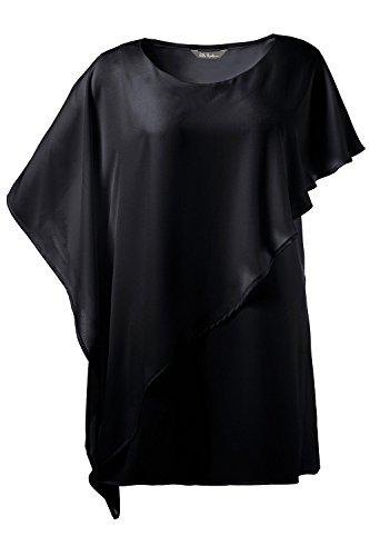 Ulla Popken Femme Grandes tailles Blouse longue 710492 Noir