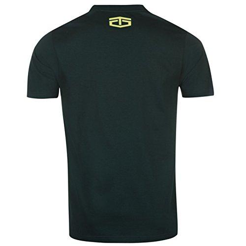 Tapout Herren Tonal Print T Shirt Kurzarm Rundhals Baumwolle Regular Fit Kiefer/Wald