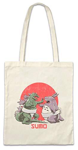 Urban Backwoods Sumo Monsters Hipster Bag Beutel Stofftasche Einkaufstasche -