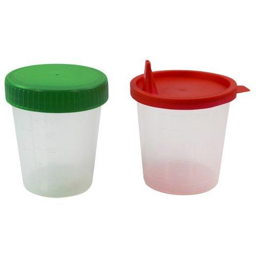 10 Urinprobenbecher 125 ml, Farben:Grün