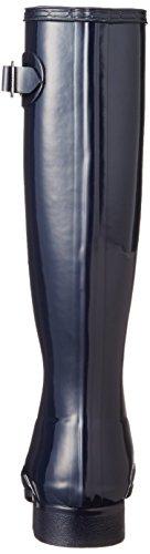 Damen Hunter Original Tour Gloss Gummi Wasserdicht Schnee Regen Stiefel Mitternacht