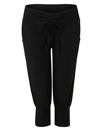 Venice Beach Donna Ellinor Yoga Pants pantaloni 3/4pantaloni sportivi, Black, 2x l Black