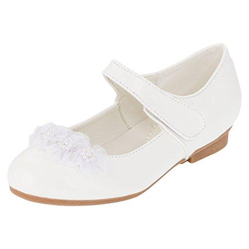 dd982b4bdaed2f Hello Coccinelli Festliche Mädchen Ballerinas Schuhe mit Klettverschluss in Vielen  Farben M394ws Weiß 36