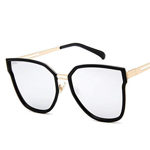 CHJKMN Alloy Large Frame Sonnenbrillen Frauen/Männer Reisen Polygonal Sonnenbrille für Frauen Classic Outdoor