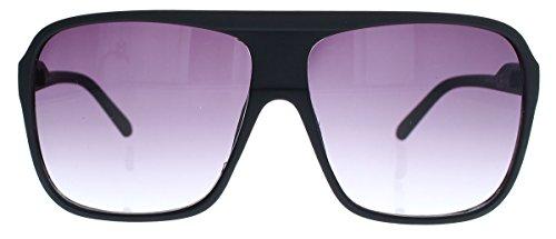 Old School Sonnenbrille Herren Nerd Brille 80er Jahre Flat Top oversized MODELLWAHL F79 (M1: Matt Schwarz)
