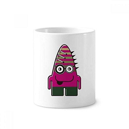 UNIVERSUM Alien Monster pink Monster Keramik Zahnbürste Stifthalter Becher weiß Tasse 350ml Geschenk