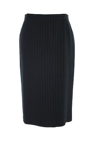 Busy Clothing Womens Dark Navy Stripe Pencil Skirt – Size 10