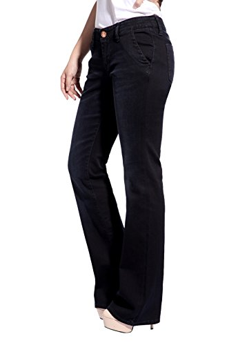 Christian Audigier Womens Causal Bootcut Jeans Cotton Slim Fit Bootleg Pants Abominable Size 28
