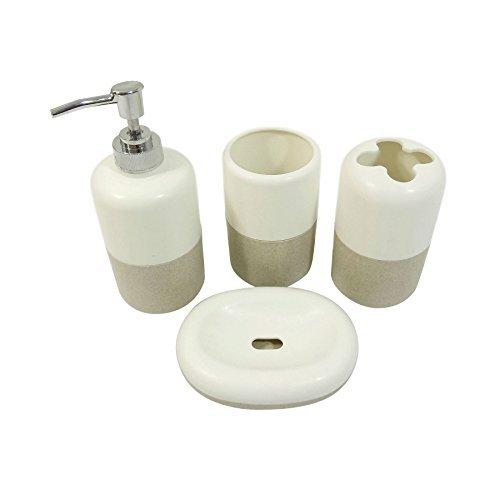 set-4-pezzi-bagno-porta-spazzolino-erogatore-di-sapone-detersivo-per-i-piatti-tumbler-beige-crema