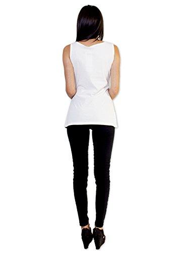Coton Du Monde MAE-Top, colore: bianco Multicolore