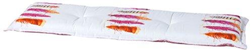 Madison 7BAN6-F070 Gartenbank, 2-Sitzer Anguilla, 120 x 48 cm, Baumwolle / Polyester, fuchsie