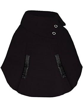 Chicas Pull en el cabo Kids asimétrico Poncho detalle de botones Tallas Abrigo 3-14 Años