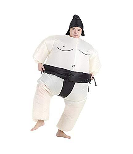 Snuter Costume Gonflable Sumo Adulte Costume Explosion Adulte Jeu de Famille Deguisements pour Adulte etant 1.6-1.85cm
