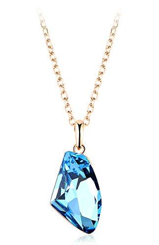 "Yparah - Collier Femme ""Infini Bleu"" - Cristal de Swarovski"