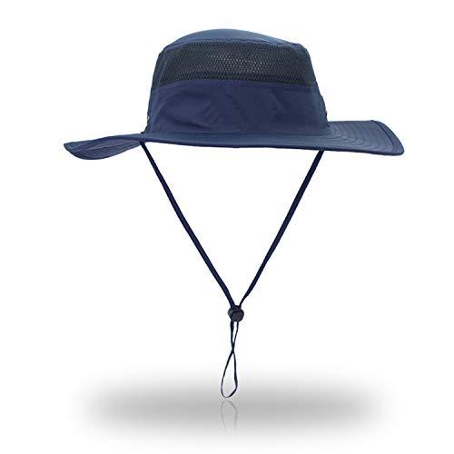 VICSPORT Sonnenhut Herren Damen UV Schutz Sonnenschutz Kopf Faltbar Wanderhut Gartenhut Boonie Fischerhut