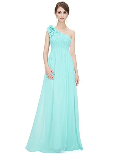 Eudolah Damen Abendkleid Prom Kleid Maxi Bodenlang Chiffon Satin ...