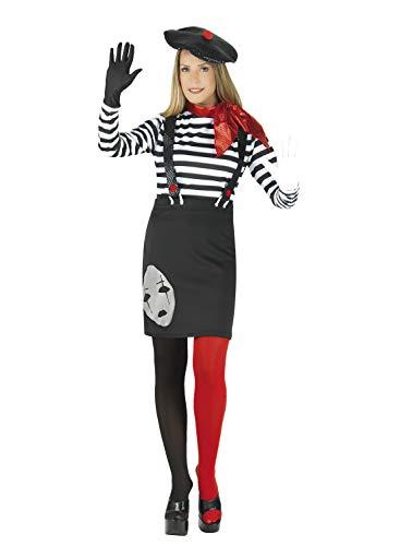 Kostüm Mime Marceau - chiber Disfraces Pantomimen Kostüm für Damen