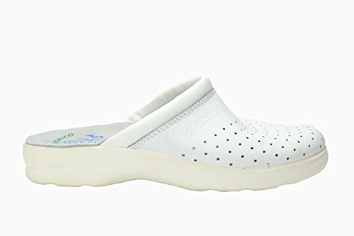 Ciabatte Sanitarie Anatomiche Uomo Blu Bianco Made in Italy Fly flot Bianche FLYFLOT Art 7264 (41, Bianco)