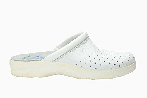 Fly flot ciabatte scarpe uomo bianco sanitarie 7264 46