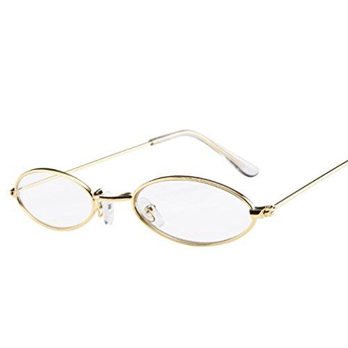 Rétro en métal de petites lunettes de soleil ovales des femme des hommes Lunette de soleil Malloom Malloom®_Plage