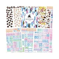 Clever Fox Planner Stickers Set - Monthly, Weekly & Daily Planner Stickers 17 Sheets Set of 1500+ Unique Stickers