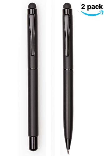 Suvice Stylus Stick Ballpoint Pens Pack of 2 (Black) Gift Combo Set