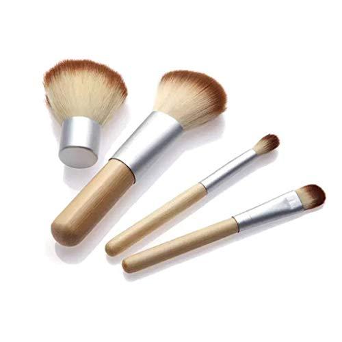 Bobury 4pcs beauté Fard à Joues Kit Bambou poignée cosmétique Poudre Brosse de Femmes Make Up Outils