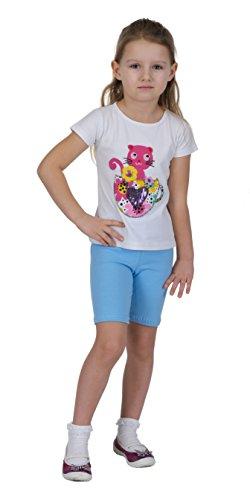 ab3d3d6a7 Las niñas algodón pirata o ciclismo pantalones cortos Leggings tamaños 3  años - 12 años amplio abanico de colores multicolor Shorts Light Blue ...