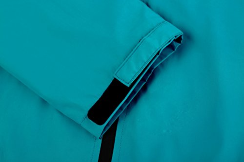 ZSHOW giacca leggera da corsa antivento e resistente all'acqua con cappuccio da donna Blu