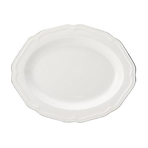 Mikasa Antique White Platinum Oval Platter White