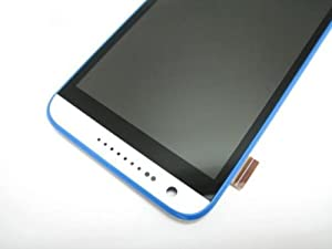 Full lcd display + Touch screen+Frame for HTC Desire 620G (Blue-White)