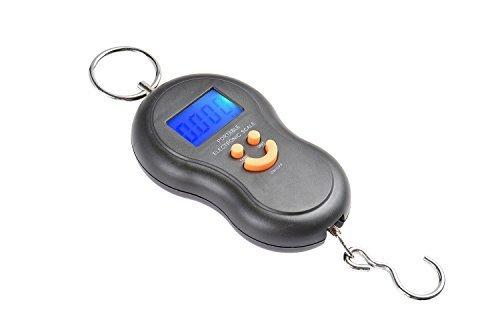 Quantum bilancia da viaggio portabile / bilancia sospesa / bilancia bagaglio / bilancia tascabile / bilancia per pesci 40kg/10g nero