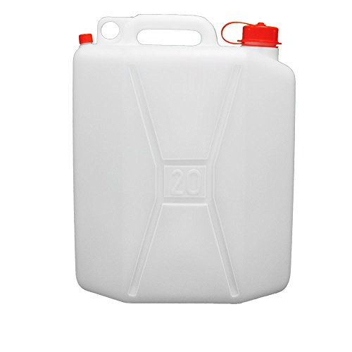 Oryx 8085530 Bidon Garrafa Plastico Alimentario, 20 Litros, Blanco