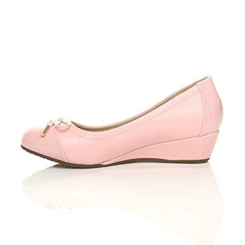 Ballerine Ballerine Ballerine Eleganti Donne Cuneo Tacco Dimensioni Calze Scarpe Rosa   c39e09